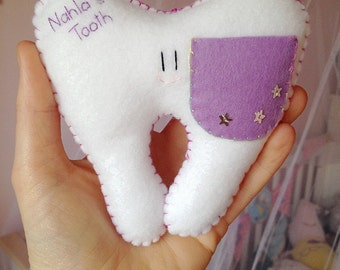 Tooth Fairy Pillow. Tooth Pillow. Tooth Pillow.  Personalised Tooth Pillow.
