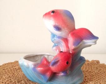 SALE- Vintage Ceramic Carp Figurine