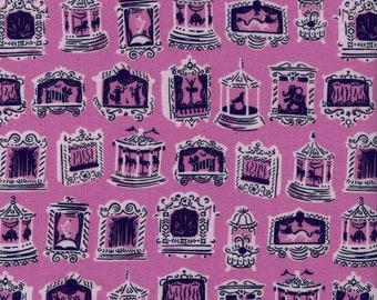 Cotton + Steel Penny Arcade Petunia by Kim Kight Penny Arcade City Fabric Purple Pink Navy - Cotton - Modern Quilting Fabric Building Fabric