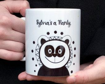 Panda Coffee Mug / Personalised Mug / Cute Panda Mug / Mug Gift / Personalized Mug Gift / Panda Gift / Animal Mug / Gift for Boyfriend