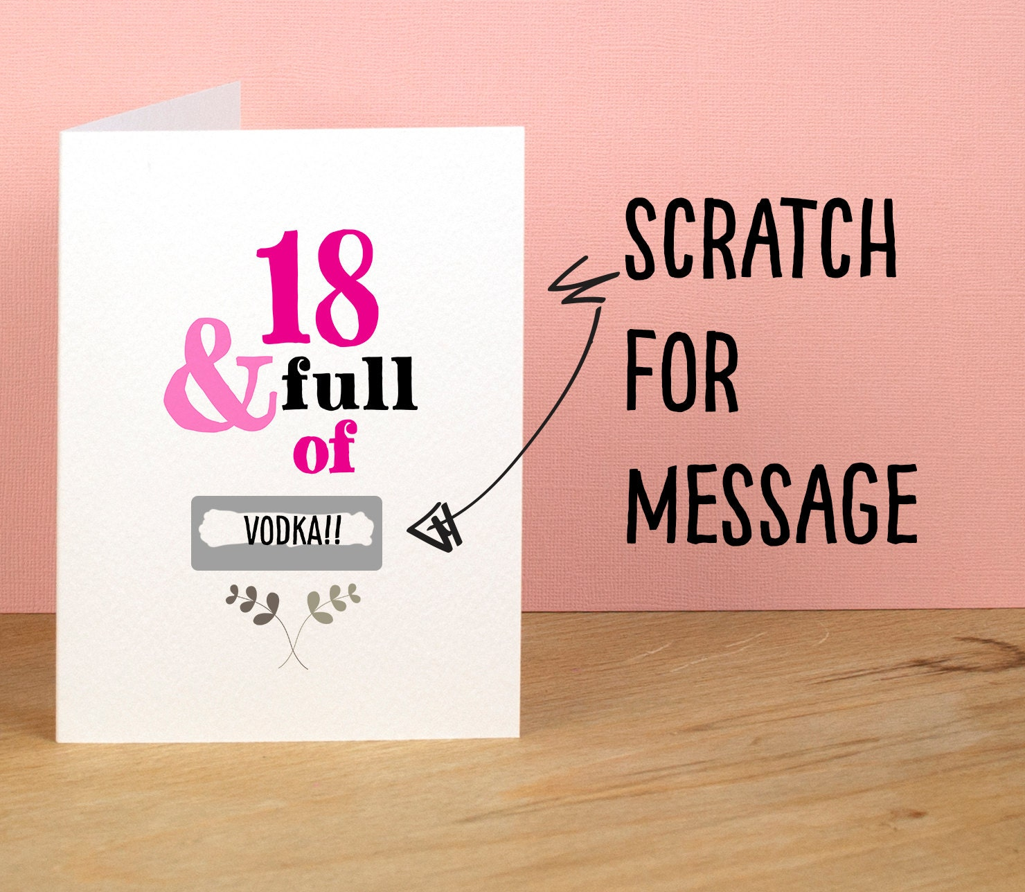 18th Birthday Card 18 and Full of Rude Sarcastic Humorous – Funny 18th Birthday Card Messages