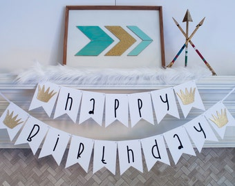 Happy Birthday Banner Inspired by the Where The Wild Things Are, Wild Things Birthday Party, P051