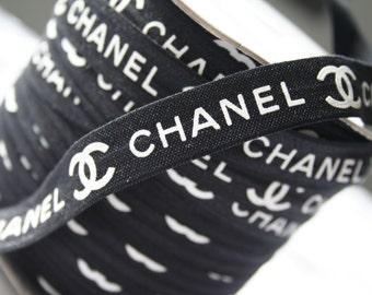 """5/8"""" FOE Designer Elastic Black & White"""