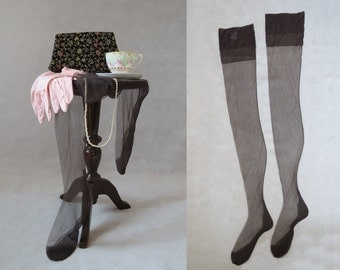 Grey Seamed, Fully Fashioned, Stockings, Nylons - 1950s