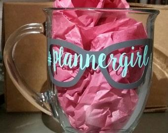 16oz. Clear coffee mug