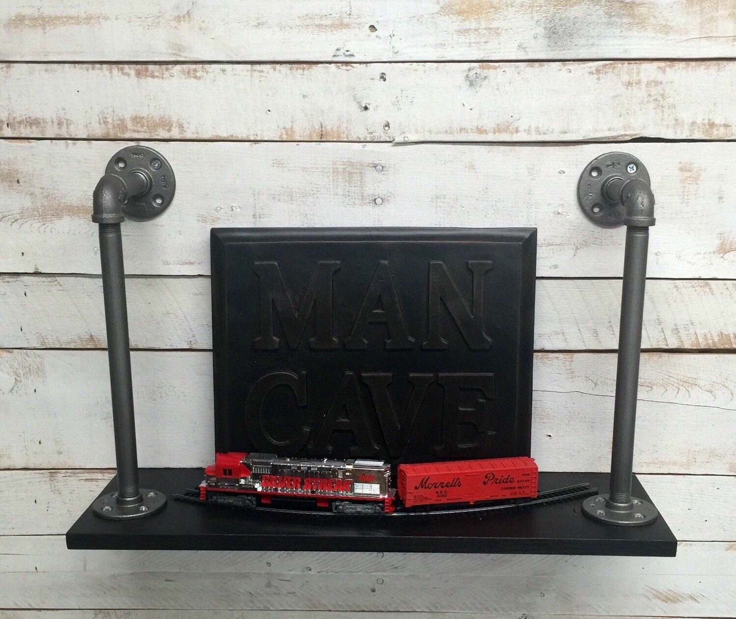 Man Cave Industrial Shelf Man Cave Decor Man By
