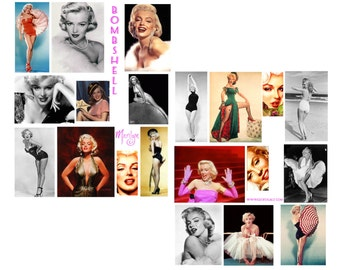 SALE*******Bombshell Digital Collage set