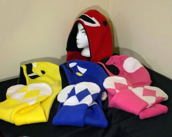 Mighty Morphing Power Rangers Inspired Fleece Scoodie with Pockets