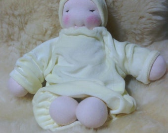Waldorf style baby weighted with lavender scented or unscented millet
