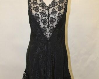 Vintage VAL-MODE Black Negligee