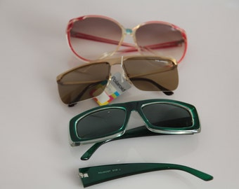 Vintage Polaroid Sunglasses 3 Pairs. DAMAGED. May be Fixed. No GUARANTEE. Polaroid 8739D, Polaroid 4591B,  Polaroid Lookers 8531