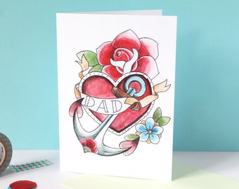 tattoo birthday card  etsy uk, Birthday card