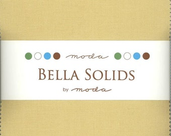Bella Solids Parchment Charm Pack, Set of 42 5-inch Precut Cotton Fabric Squares (9900PP-39)