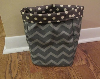 Car Trash Bag, Gray Chevron Trash Bag, Car Caddy