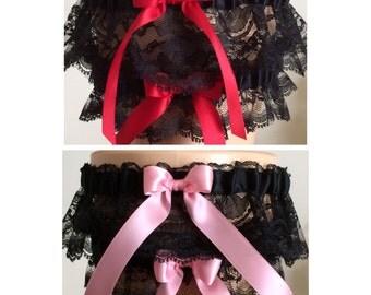 Turquoise And Black Lace Wedding Garter Bridal Garter Black