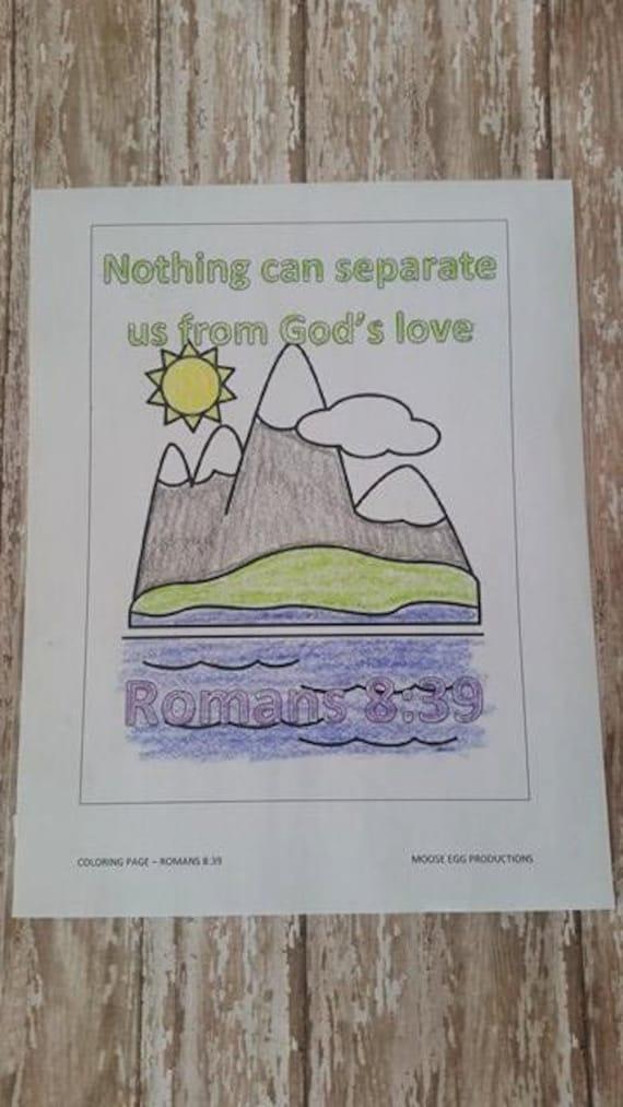Coloring Sheets Memory Verse Romans 8 39