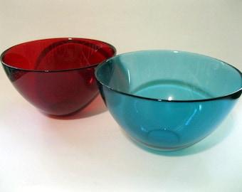 Orrefors Fuga Bowl, Red , Sven Palmquist Design