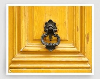 Paris photography - Door handle (yellow) - Giclee Art Print,Home decor,Fine art photography,Paris decor,Art print,Art Poster,Gift idea,Wall
