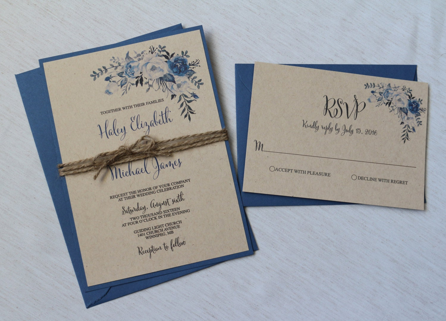 Rustic wedding invitation floral wedding invitation floral for Floral wedding invitations canada