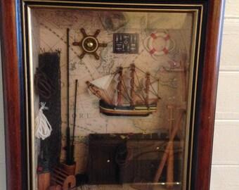 Vintage Collectible Handmade Captain's Cabin