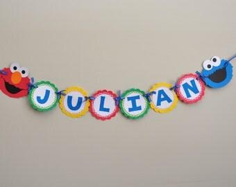 Sesame Street Name Banner