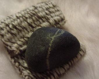 Worry Stone in Hand Woven Irish Wool
