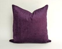 Unique Dark Purple Pillow Related Items Etsy