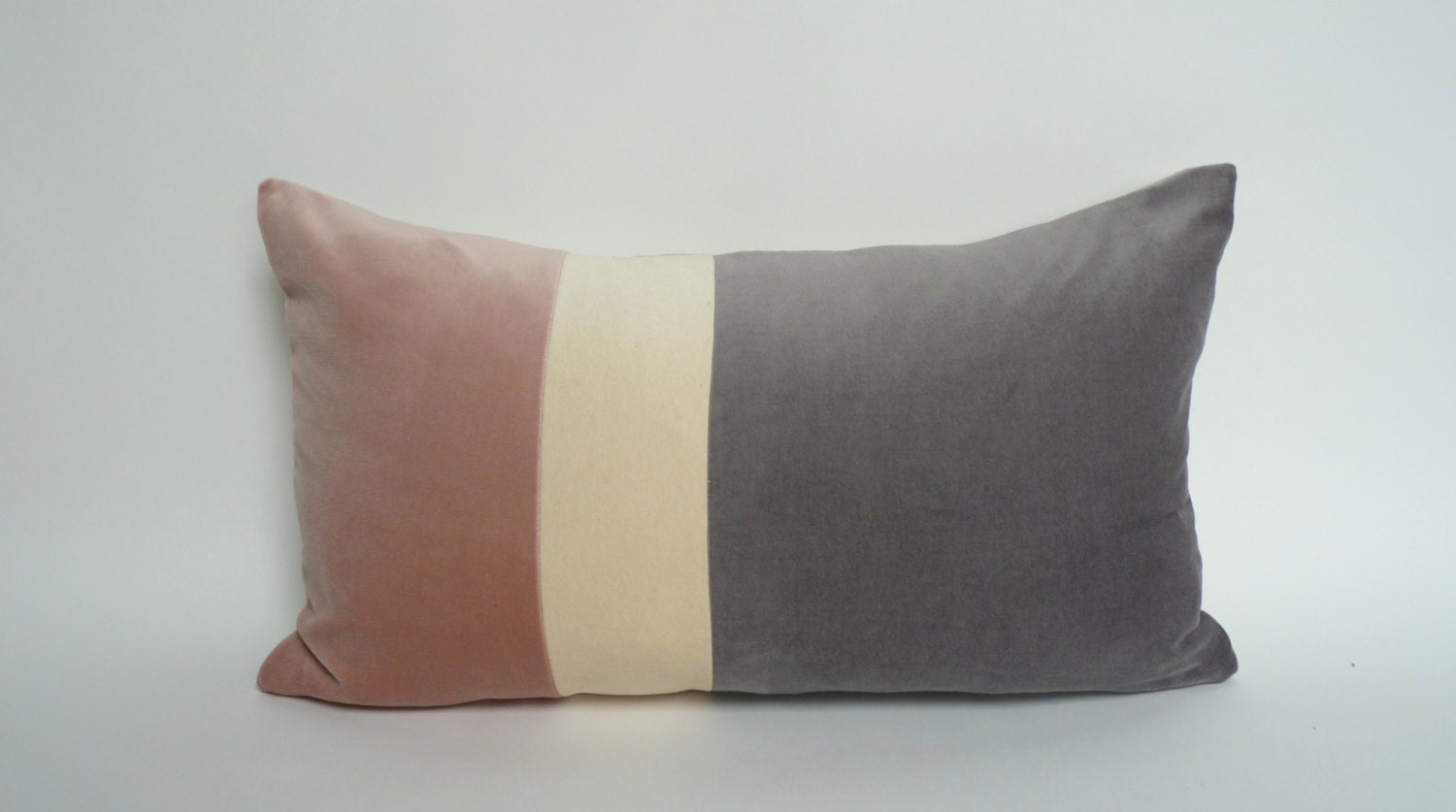 blush pink and grey pillow case color block pillow case. Black Bedroom Furniture Sets. Home Design Ideas