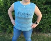The Coelum Top - Woman's Crochet Top - Crochet Pattern
