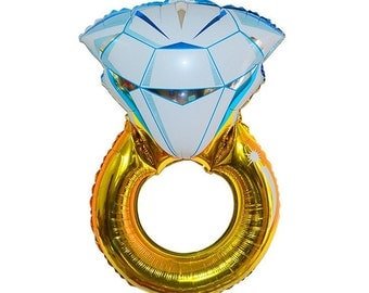 Diamond ring engagement balloon, bridal , bachelorette bridal shower engagement party