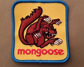 mongoose embroidered patch