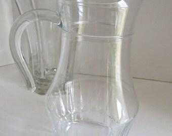 SALE Clear Glass Pitcher Iced Tea Pitcher set Iced Tea Tumbler Crystal Pitcher Orange Juice Carafe Pitcher Clear Glass Pitcher