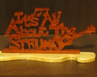 It's All About the Strum Ukulele Hand Made Desktop Wood Sign
