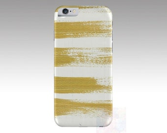 Gold Brushstrokes Iphone 5 / 5s, 6 / 6s Device Case