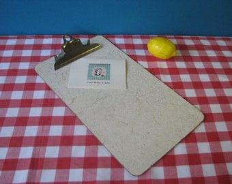 Formica Clip Board - Laminate - Masonite - Marble Look - Legal - Retro Office - Vintage 1960's