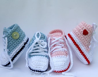 PDF with 150 photos - Baby Booties Crochet pattern, Crochet Pattern, Baby tennis shoes, tennis shoes