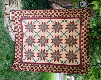 SALE, Buy 2/Get 1 Free   --   STAR CROSSING,  pdf quilt pattern, Throw, Full & Queen sizes
