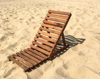 Fold flat beach chair