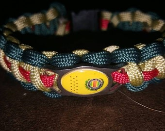Military Paracord Bracelet with Vietnam flag
