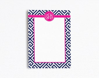 Monogrammed Notepad - 5x7  - Design your own - Monogrammed Gift / Monogrammed Favor - Bridesmaid Gift Idea - Bridesmaid Favor [DYO]