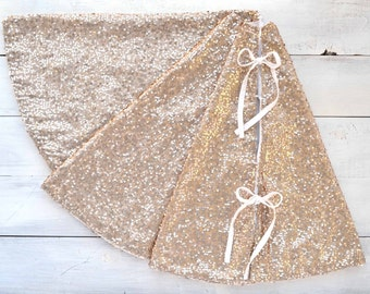 christmas tree skirt champagne sequin tree skirt gold tree skirt christmas tree skirt - Gold Christmas Tree Skirt