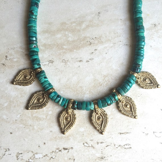 Raja Turquoise Choker Necklace