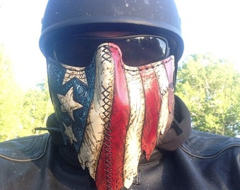 Patriot Leather Motorcycle Riding Mask