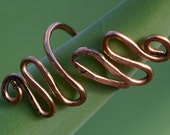 Wire Wrapped Ring, Copper Wire Ring, Free Form,Customeizeable, Wire Ring, Jewelry,Adjustable