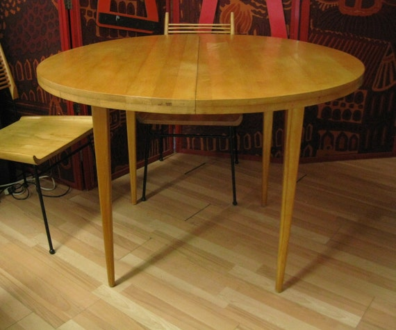 Paul McCobb Round Dining Table Maple 1950 39 S By PREVIEWMOD On Etsy
