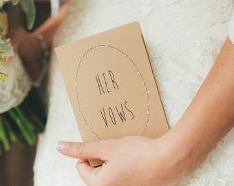 Wedding Vow  Pocket-Sized Booklets  - His And Her Vow Books
