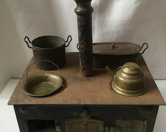 Rare Antique Miniature Toy Metal Stove - possibly Marklin Early 1900s Doll Size