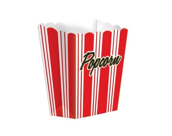 Popcorn Paper Box - Large, Tableware, Party Supplies