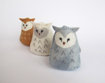 Felt Owl Toy Pattern PDF