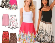 CUTE & EASY Skirts,  Pattern by Simplicity 4236 * Size 12-20